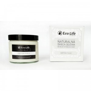 Eco Life 'Cotton Field' Naturalna Świeca Sojowa 250 ml
